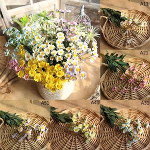42cm 15 Kafalar Yapay Çiçekler İpek Papatya Çiçek Sahte Çiçek Düğün Dekorasyon Ev Vazolar Dekorasyon