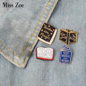 Leggere più libri dello smalto Pin lettura libro magico distintivo spilla Pin del risvolto del denim dei jeans borsa camicia brooches dei perni del fumetto gioielli regalo per il capretto