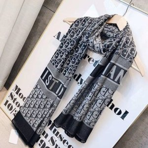 2020 Qualidade de Luxo Designers colorido da letra Silk Scarf Mulheres Carta Xaile Scarf Famoso Dior Lenços Instock