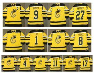 빈티지 신시내티 스팅거 저지 27 MARK MESSIER 1 MIKE LIUT 4 배리 멜로 브 로비 프릭 릭 더들리 마이크 가트너 Stoughton Retro Hockey