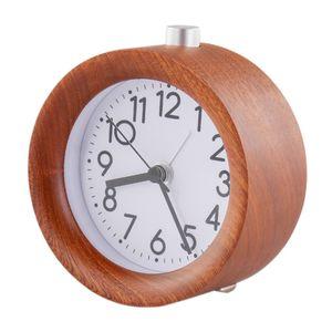 Wooden Alarm Night Light Clock LED Display Electronic Watch Table Sound Control Digital Desktop Mirror Temperature Digital Watch