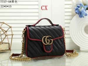 bolsos de diseño totalizadores para las mujeres de la cadena bolso de hombro clásico de Crossbody del mensajero del bolso del estilo de Francia parís totalizadores del bolso de compras del bolso del G7