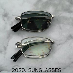 fach-Platz Transition Sun Photochromic Lesebrille Männer Multifocal Dioptrien Progressive glasse Lesebrille FML
