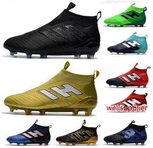 Mens New ACE 17 PureControl FG Fußballschuhe Gewitter Series Günstige Top Männer Fußballschuh Außen Fg Fußballschuhe Schuhe