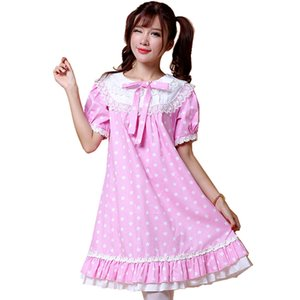 Shanghai Story Women Alice Lolita Angel Pink Cotton Princess Female Dress Lace Sweet Lolita Party Dress for ladies cosplay costume