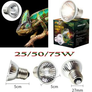 25W 50W 파충류 전구 UV 열 램프 거북이 거북 칼슘 보충 110V 220V E27 UVB UVA 조명