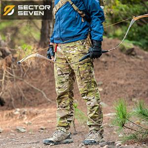 Sector Seven Men Camouflage Pantalon tactique Pantalon cargo Casual