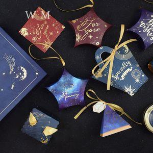 Regalo del partito Caso Wrap Creative Space Star Series Stampato Candy Box carta da zucchero Contenitori Fit Wedding Supplies 0 5CF E1