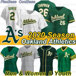 Oakland 26 Matt Chapman Jersey Ramon Laureano 10 Rickey Henderson 24 Marcus Semien 2 Khris Davis Joe Canseco'yum 2020 Sezon Formalar