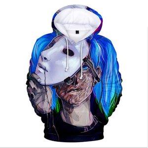 Venta al por mayor de Sally cara 3D de ancho completo estampado Harajuku hip hop hombres y mujeres con capucha suéter camiseta amantes de la camisa de lana de alta calidad