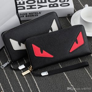 2020.Wholesale- 2016 New brand men's wallet zipper long phone clutch bag fashion high quality guarantee eyes purse clutch wallet free shippi