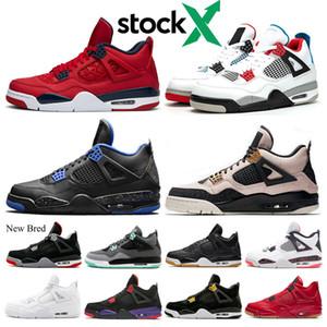 Stock X Bred El nuevo conector de zapatos de baloncesto 4 4s hombre cactus 140 lo que el láser Negro Gum escoge día SILT RED zapatillas de deporte de diseño entrenadores