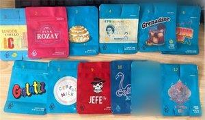 Cookies Borsa Mylar Childproof Cookies Imballaggio sacchetti di 11 stili a chiusura lampo sacchetto per lavaggio a Herb torta cereali Latte Gelatti Cereal