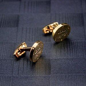 Man Cufflinks Uomo di alta qualità 18k oro gemello uomo polsini di nozze gioielli in vendita