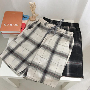 Easy Man Sandy Beach Pants Seaside Full Marks Leisure Time Pants Motion In Shorts Handsome Lattice Large Underpants Pyjamas