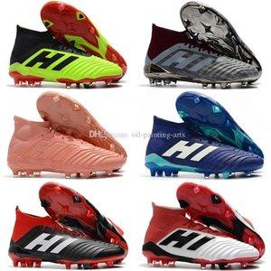 Marron Orange Messi Crampons Predator Football 18+ FG Chaussures de soccer pour enfants de soccer de femme Bottes enfants ACE 18.1 Chaussures de football