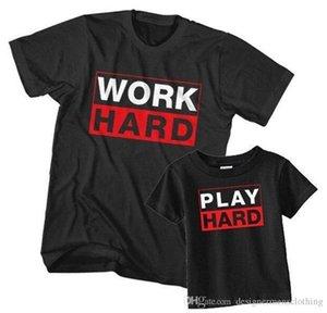 Imprimir duro camisetas gola manga curta preto Mens Fashion Tops Casual Parent Vestuário Vestuário de trabalho