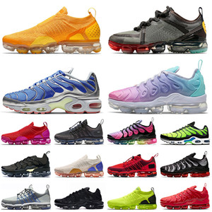 chaussures hommes size 13 nike air max airmax vapormax plus tn se flyknit Run Utility Chaussures de course Pastel Cactus Plant Flea Market Hommes FLY KNIT University Gold Trainers