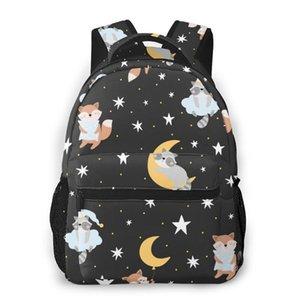 Backpack Women Shoulder Bag For Teenage Girls Cute Sleeping Animals And Stars Bagpack Female Ladies School Backpack