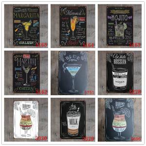 شريط لافتة مفتوح الصيف البيرة ريترو معدن القصدير علامات موخيتو مارتيني كوبا LIBRE كوكتيل البلاك حانة بار جدار الفن ديكور