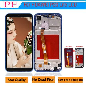 Grado A +++ calidad LCD para HUAWEI P20 Lite pantalla LCD para HUAWEI P20 Lite ANE-LX1 ANE-LX3 Nova 3e con marco 5pcs
