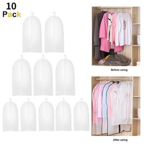 10Pcs Garment Clothes Coat Dustproof Cover Suit Dress Jacket Protector Travel Storage Bag Thicken Clothing Dust Cover Dropship