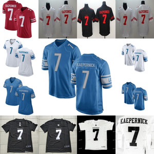 7 Colin Kaepernick IMWITHKAP IM COM KAP SanFrancisco49 DetroitLion Homens Mulheres Juventude Filme Futebol Jerseys S-XXXL