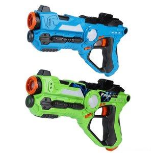 2pcsset cs Spiel Spielzeugpistolen Grün und Blau elektrischer Kampf Spielzeugpistole Infrarot-Sensor Sonstiges Zubehör Spiel Zubehör Kunststoff-Laser-Tag-gun