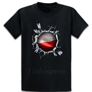 Usa Poland Flag Inside Proud Polish American T Shirt Cute Design Humor Vintage Original O-Neck Cotton Spring Shirt