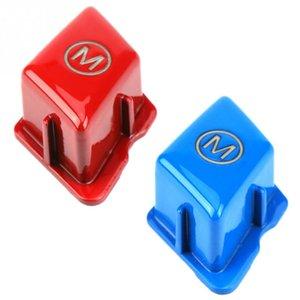 Interruptor de dirección de coches de ruedas Botón de modo M para la Serie 3 E90 E92 E93 M3 2007 2008 2009 2010 a 2013 botón del volante rojo del casquillo,