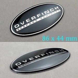 50X OVERFINCH BESPOKE VEHICLES Emblem Aluminum Sticker for Rover Defender Discovery Freelander Evoque Auto series