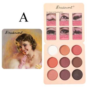 HobbyLane Classic Paleta de ojos de larga duración Fashion Shiny Eye Shadow Disc 9 colores Cosméticos