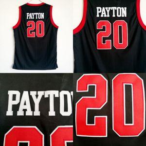 Skyline Gary 20 Payton High School Jersey Uomo Nero Per appassionati di sport Payton Maglie da basket Uniforme traspirante Fabbrica direttamente all'ingrosso