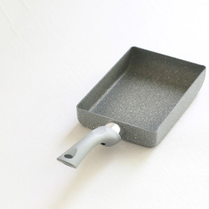 13x18cm -Stick freír nuevo diseño de la vivienda Cocina aleación de aluminio Tamagoyaki tortilla Pan no sartén Huevo Pan Pot Pancake utensilios de cocina