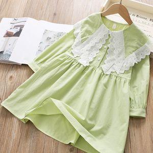 2020 Spring Children Cute Large Lace Fold-down Collar Children Shirt Girls Loose Comfortable Baby Princess Dress Fashion