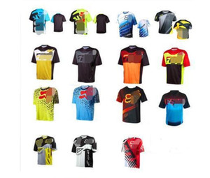 Summer new FOX universal short-sleeved motorcycle outdoor off-road riding racing suit speed drop suit men's shirt T-shirt