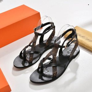 Branded Women Cow Leather High Heel Sandal Lady leather Buckle Strap Rubber Sole Chunky Heel Sandal With Box