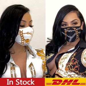 DHL frete grátis 10PCS Designer Máscara Máscaras de luxo respirador Equitação Ciclismo Sports Imprimir Máscaras Moda para homens e mulheres