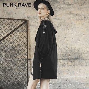 Ayrılabilir Bant ve Bel Çantası Hendek Gotik Casual Kadınlar Giyim Sonbahar ile PUNK RAVE Kız en Katı Karayel Coat