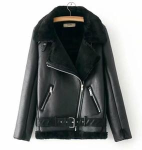 Fashion Designer Coat Winter Motorcycle Velvet Brand Jacket Women Short Lapels Fur Thick Korean Version Jackets Parkas Size S-L Wholesale