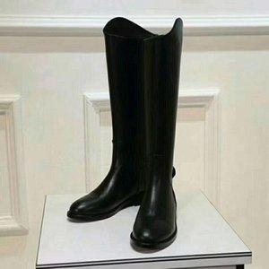 Женские дизайнерские сапоги на коленях Модные черные блестящие кожаные длинные сапоги