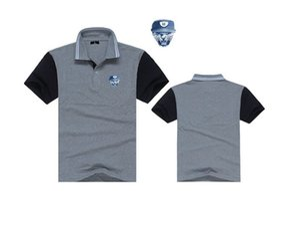 Erkekler hip hop t gömlek Çift yaka erkek moda unkut polo T-Shirt Rahat Spor Paten Yağma marcelo
