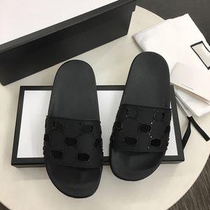 Homens de borracha sandálias sandálias desenhista desliza de alta qualidade Causal não-desinstalação slides verão huaraches flip flops chinelos com caixa tamanho 5-11
