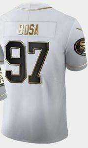 Bianco Throwback d'oro limitata Uomo Maglie Uomo San Francisco 10 85 97 jersey SF 49 Camicie magliette da calcio Tutti squadre americane