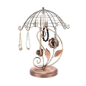 Umbrella Necklace Display Stand Metal Jewelry Stands Earring Necklace Bracelet Display Rack Holder ofly