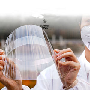 Alta Qualidade de protecção transparente trabalhador Máscara Mercado plástico anti-fog Wearable Hat face blindagem à prova de vento Máscara Cap DHL ou EMS navio
