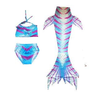 3Pcs Set Children Mermaid Tail Swimsuit Kids Girls Swimwear Bathing Suit Cosplay Costume New 2018 Bikini Set Swimming Suits