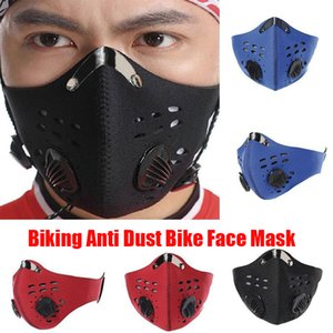 Biking Anti Dust Face Mask Activated Carbon Riding Cycling Running Cycling Anti-Pollution Bike Isolation Mask With Filter OPP Bag