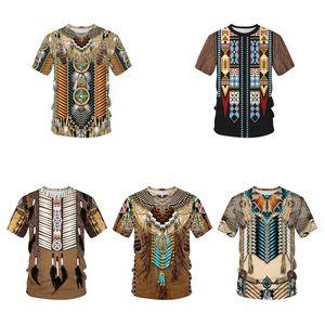 QNPQYX índio camiseta Homens 3D Impresso T-shirt Harajuku Oversize camiseta manga curta Hip Hop Camiseta Meninos Verão Tops droshipping