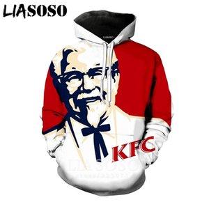 LIASOSO 2019 Autumn New Men Women 3D Print KFC Sweatshirt Long sleeve Fashion Hoodie Harajuku Casual Hip hop Pullover B004-01